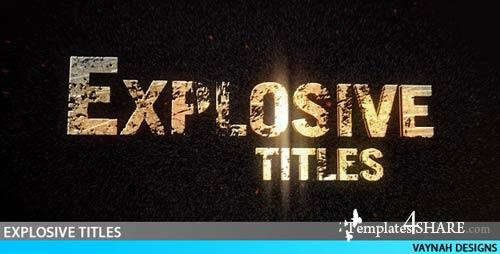 Explosive Titles Trailer HD - 25 sec - Project for After Effects (VideoHive)