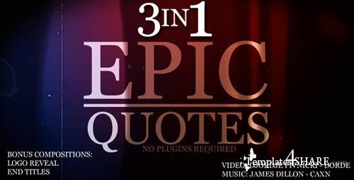 Epic Quotes 3IN1 - Project for After Effects (VideoHive)