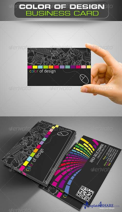 GraphicRiver Color of Design Business Card