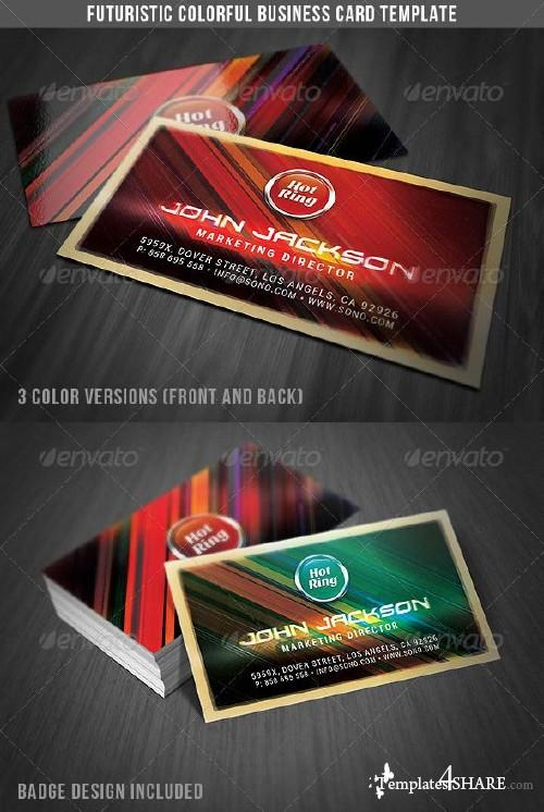 GraphicRiver Futuristic Colorful Business Card