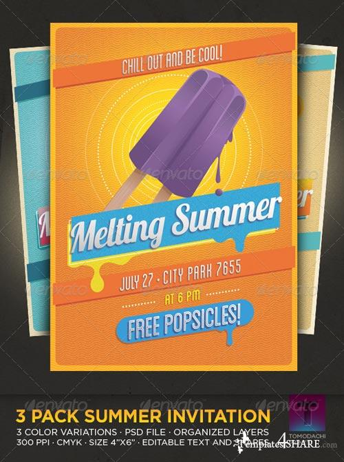 GraphicRiver Vintage Summer Flyer - Invitation