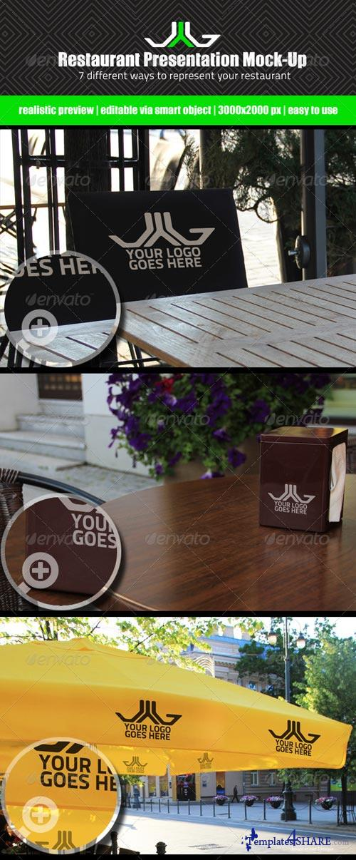GraphicRiver Restaurant Presentation Mock-Up