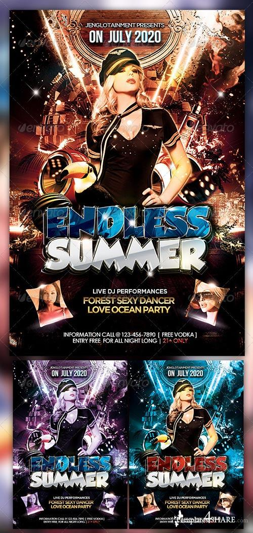 GraphicRiver Endless Summer Flyer