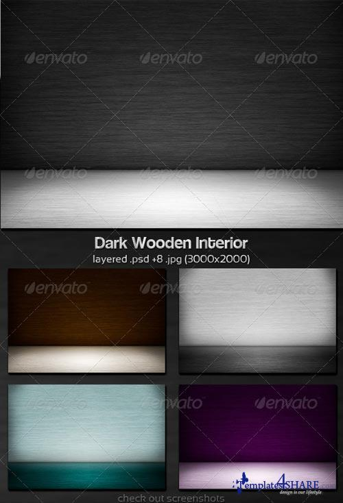 GraphicRiver Dark Wooden Interior