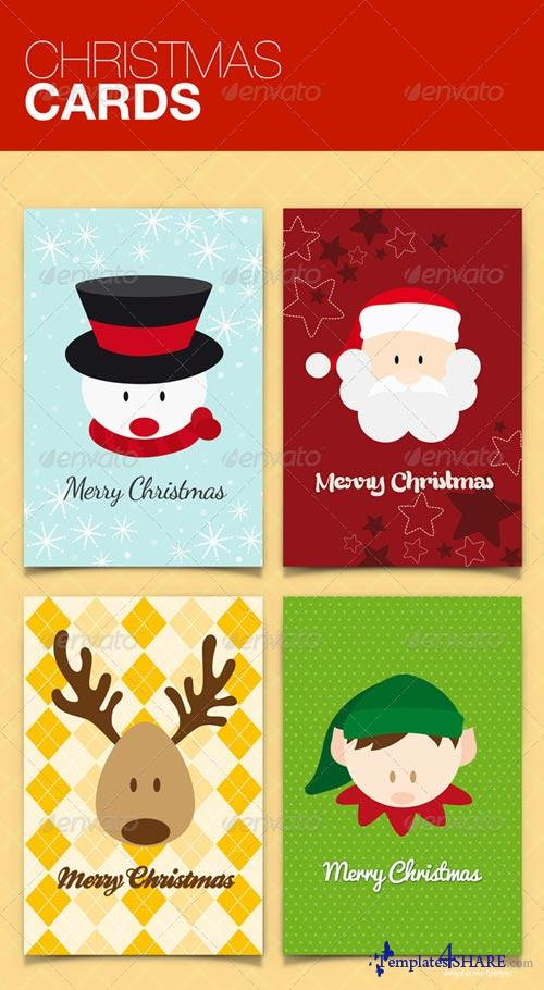 GraphicRiver Christmas Cards