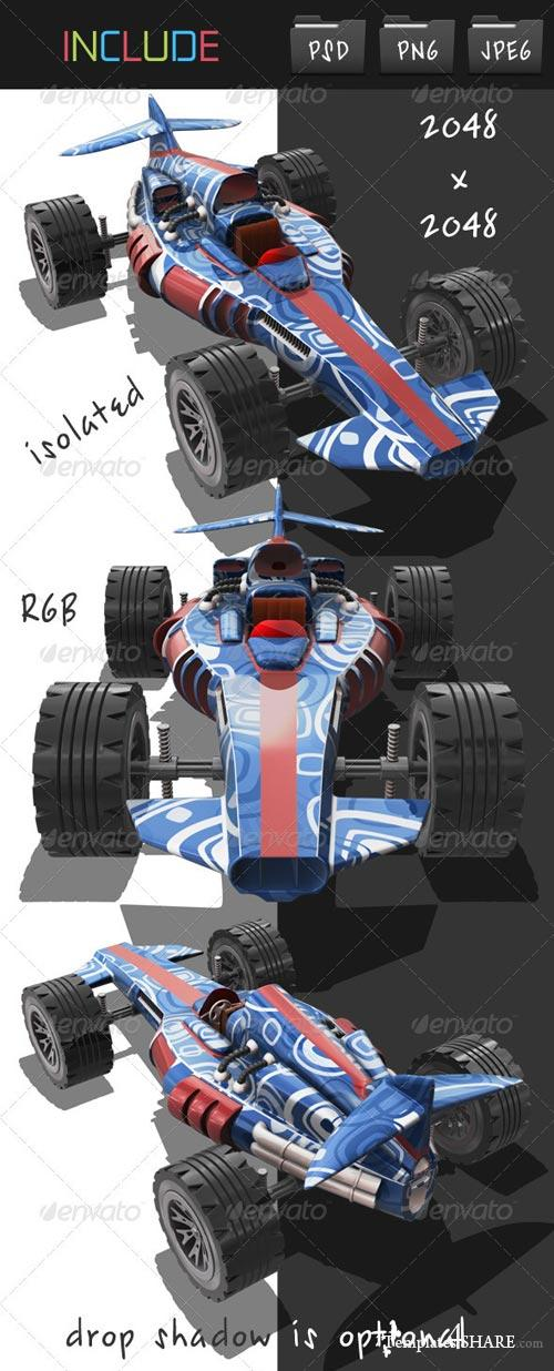 GraphicRiver Toy Racing Car