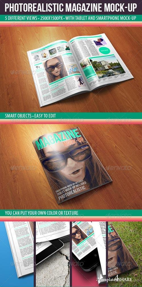 GraphicRiver Photorealistic Magazine Mock-up