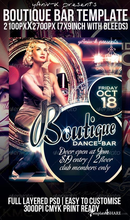 GraphicRiver Boutique Bar Flyer Template