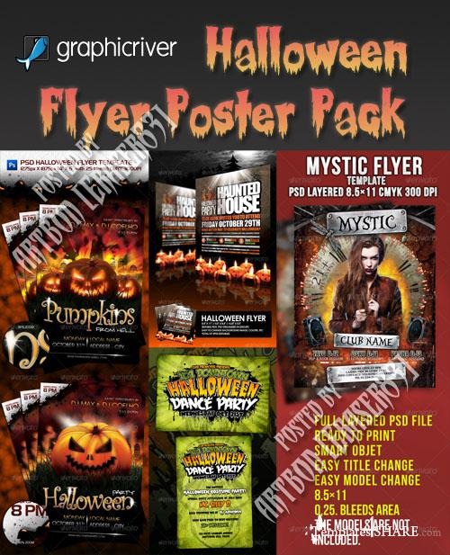 GraphicRiver Halloween Flyer/Poster Pack - REUPLOAD