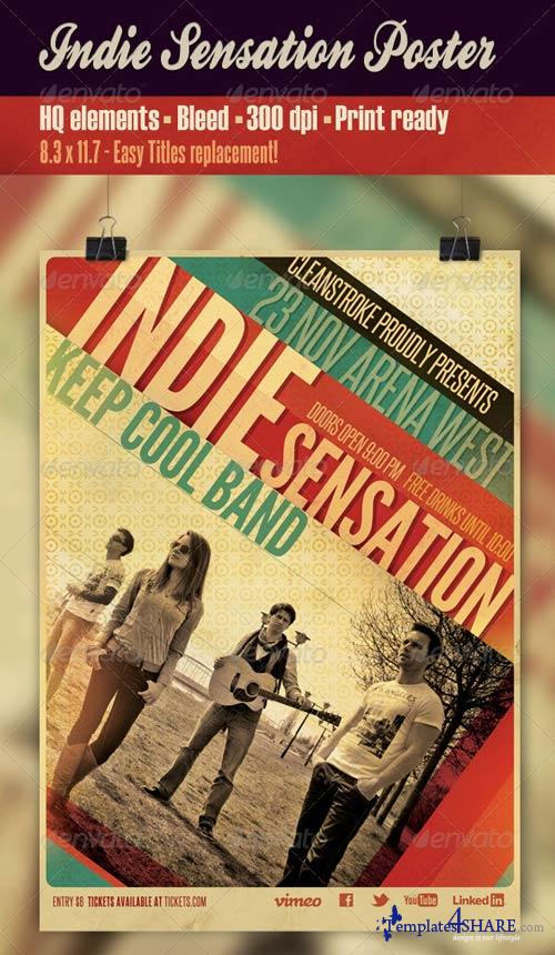 GraphicRiver Indie Sensation Poster