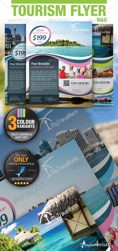 GraphicRiver Tourism Flyer Vol.5