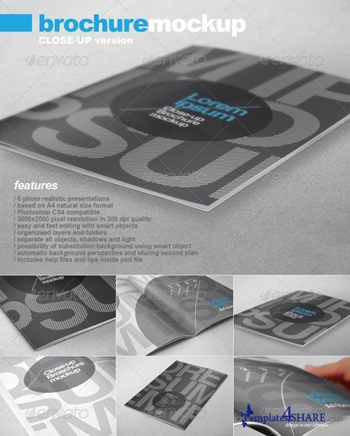 GraphicRiver A4 Brochure Close-up Mock-up