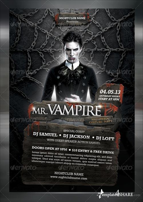 GraphicRiver MR. Vampire Music Flyer