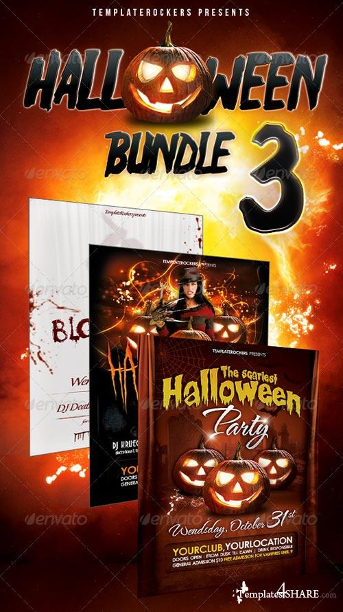GraphicRiver Halloween Party Flyer Bundle 3