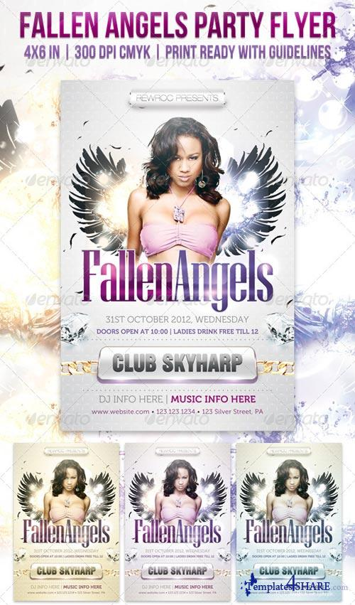 GraphicRiver Fallen Angels Party Flyer