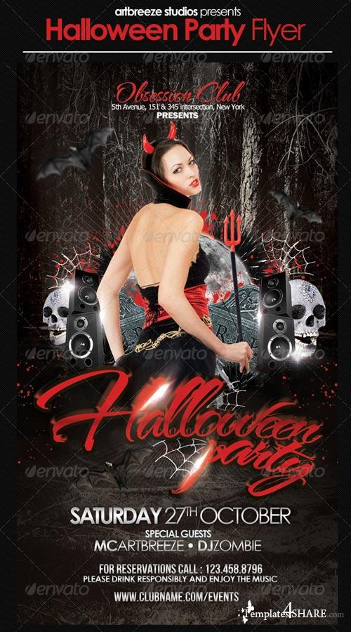 GraphicRiver Halloween Party Flyer 3031158