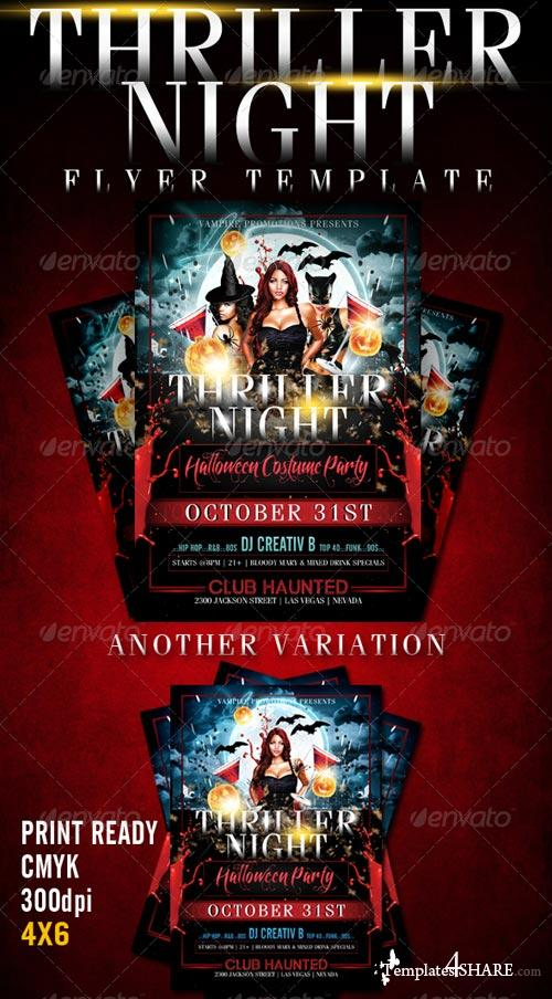 GraphicRiver Thriller Night Halloween Flyer Template