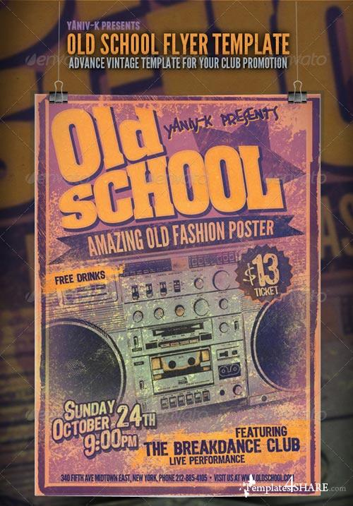GraphicRiver Old School Flyer Template