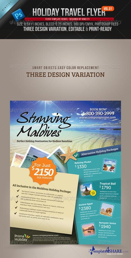 GraphicRiver Holiday Travel Flyer Vol.01