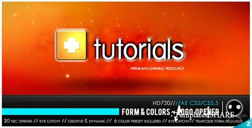 Form & Colors - Logo Opener - Project for After Effects (VideoHive)