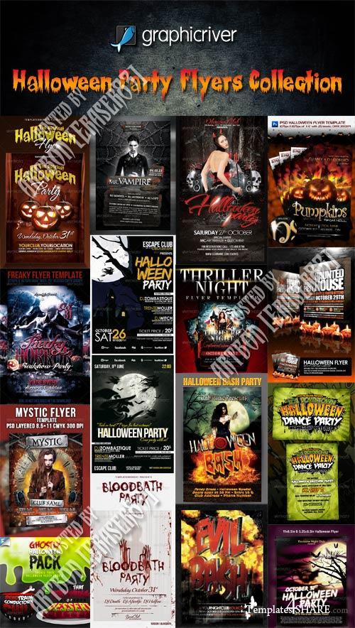 GraphicRiver Halloween Party Flyers Collection