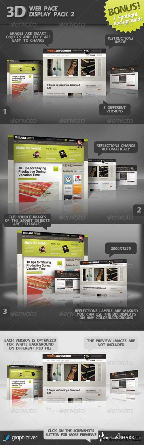 Graphicriver 3D Web Page Display Pack 2