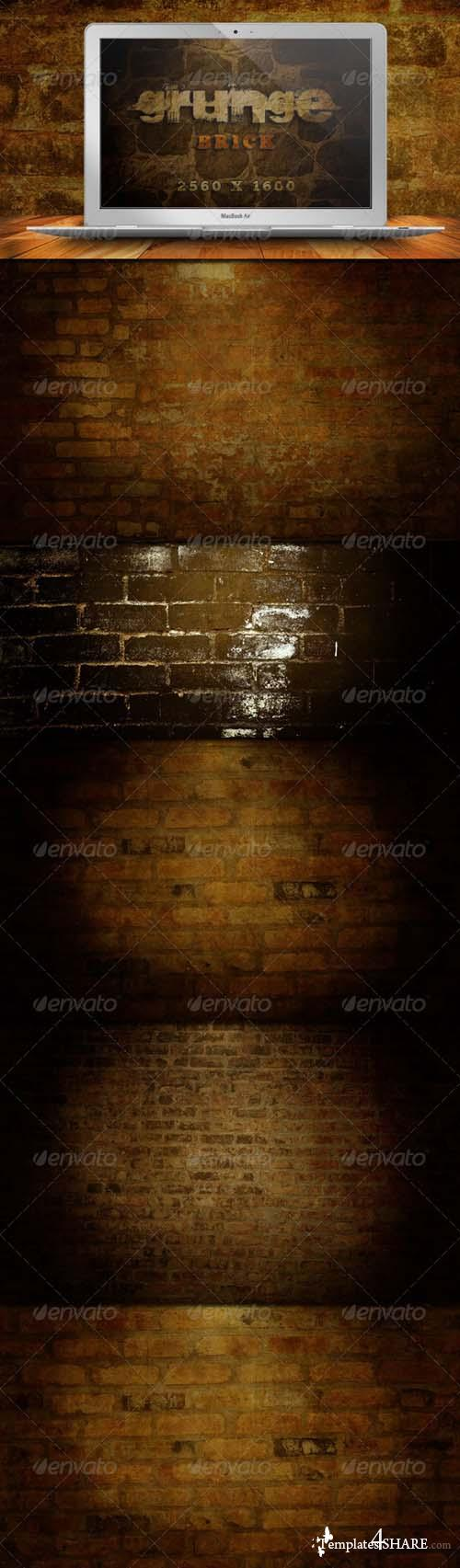 Graphicriver 10 Brick Grunge Backgrounds