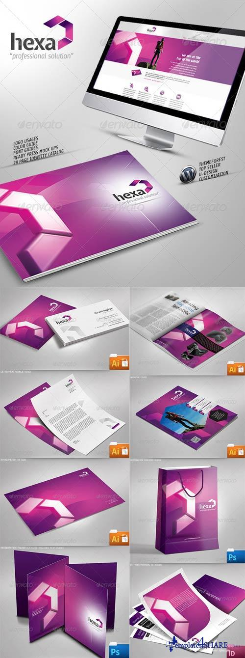 GraphicRiver Hexa Creative Corporate Identity Catalog v8