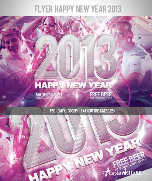 GraphicRiver Flyer Happy New Year 2013