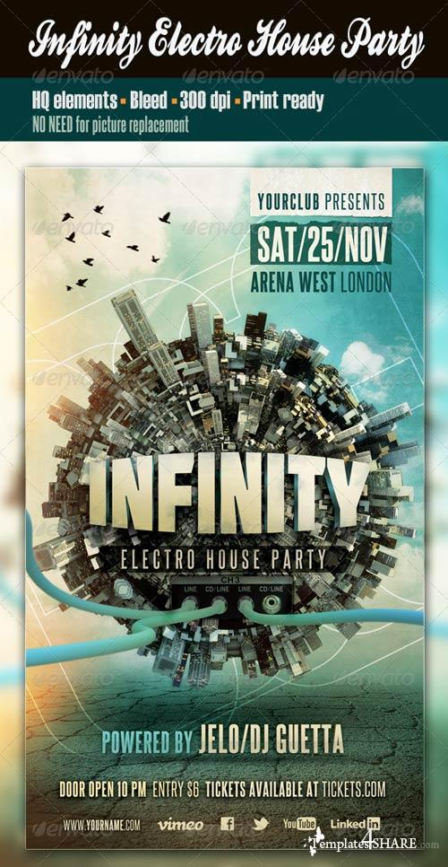 GraphicRiver Infinity Electro House Party
