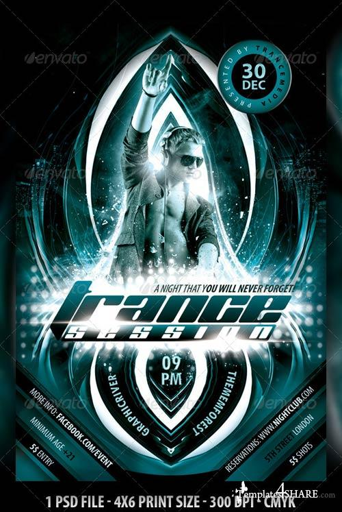 GraphicRiver Trance Session Flyer