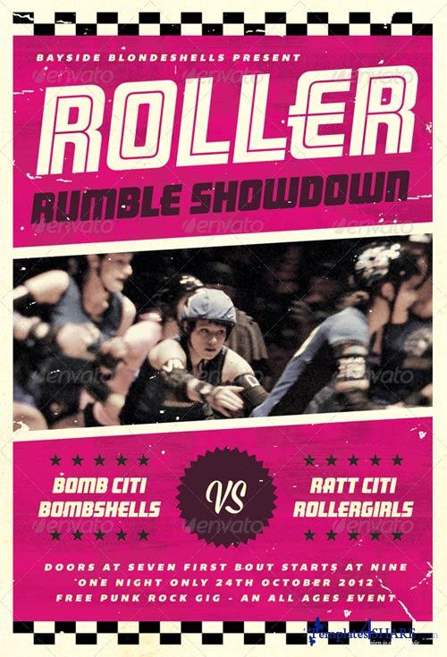 GraphicRiver Roller Rumble - Roller Derby Flyer Template