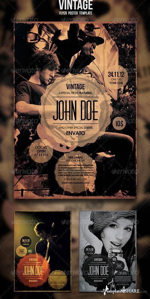 GraphicRiver Vintage Flyer / Poster