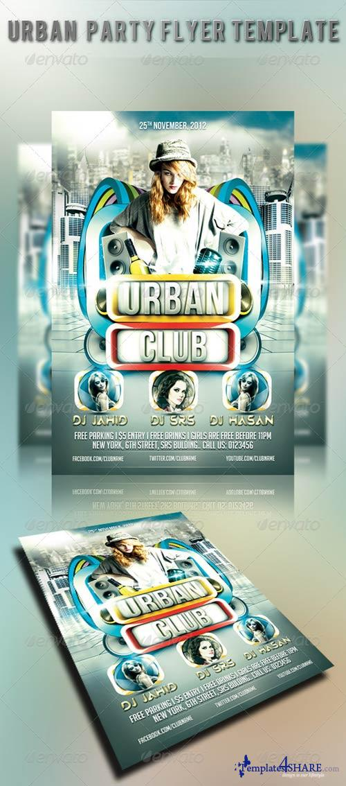 GraphicRiver Urban Party Flyer Template