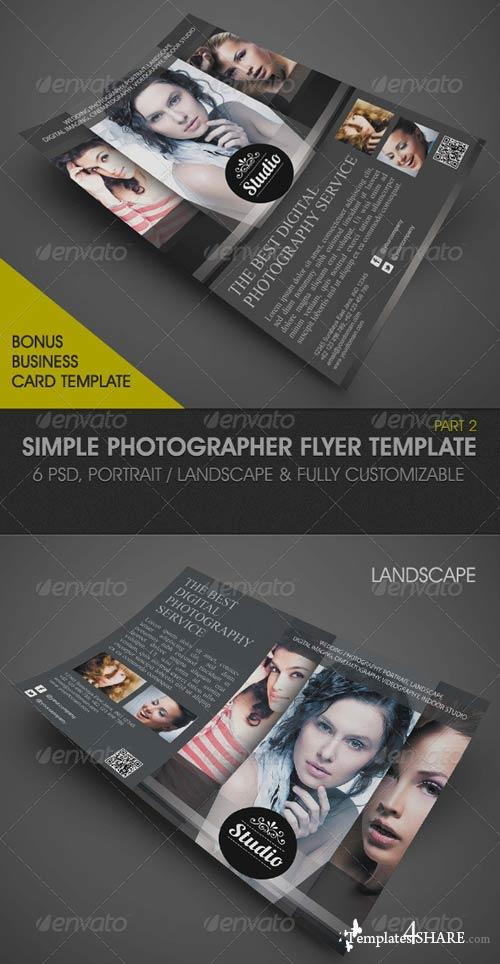 GraphicRiver Simple Photographer Flyer Template