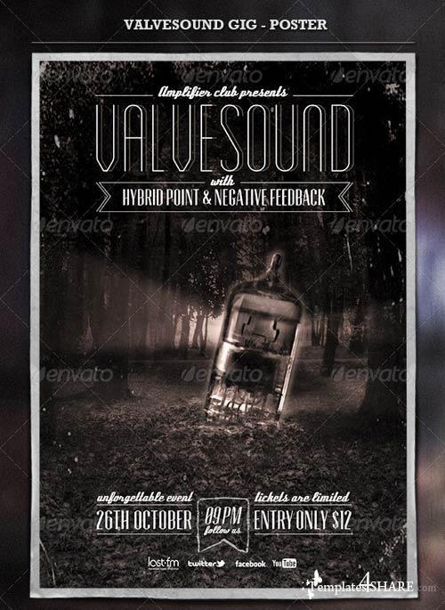 GraphicRiver Valvesound GIG - Poster & Flyer