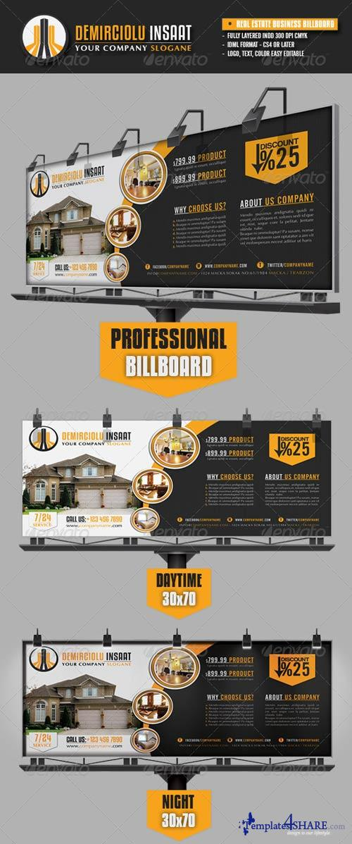 GraphicRiver Real Estate Business Billboard
