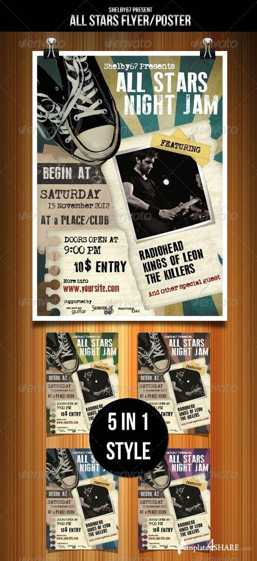 GraphicRiver All Stars Flyer Template