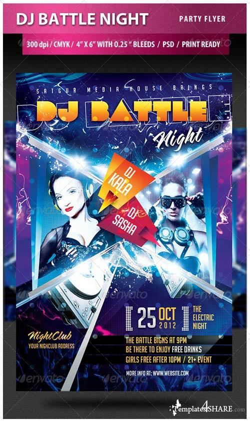 GraphicRiver DJ Battle Night Party Flyer