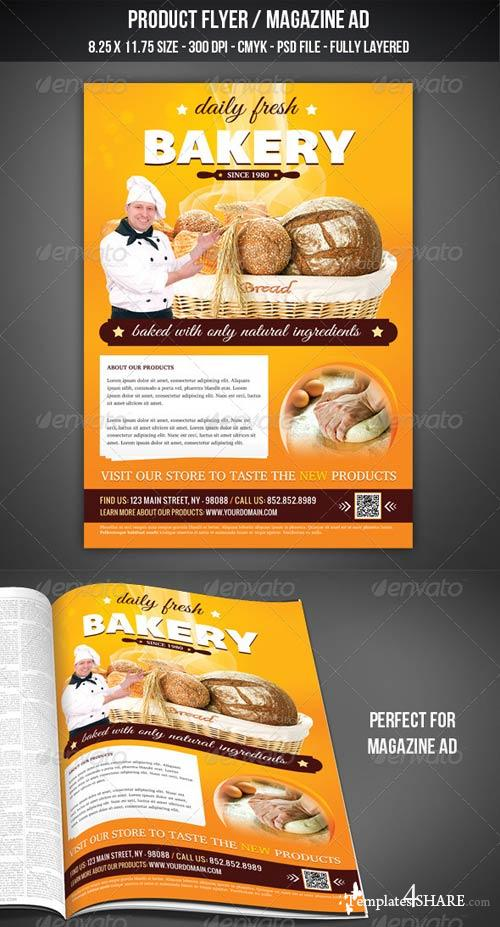 GraphicRiver Bakery Flyer / Magazine AD