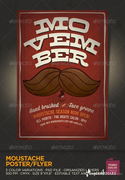 GraphicRiver MOUSTACHE Flyer/Poster