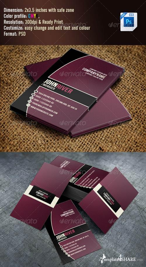 GraphicRiver Simple Violet Business Card