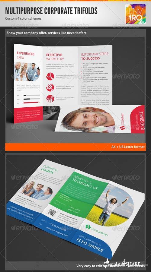 GraphicRiver Clean Multipurpose Corporate Trifold Templates