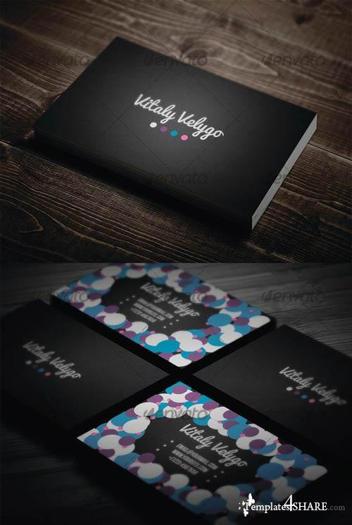 GraphicRiver Bubble Style Business Card