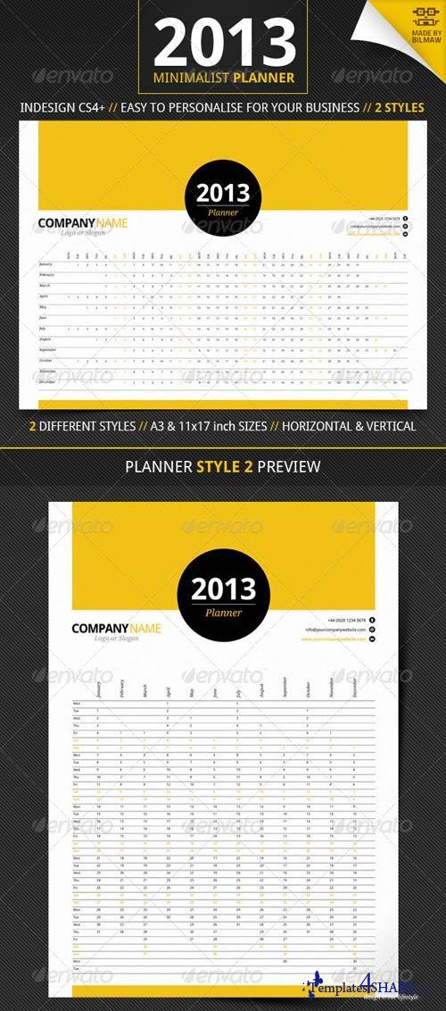 GraphicRiver Minimalist Year Planner
