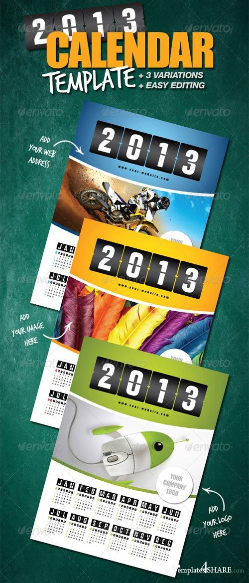 GraphicRiver Calendar Template 2013