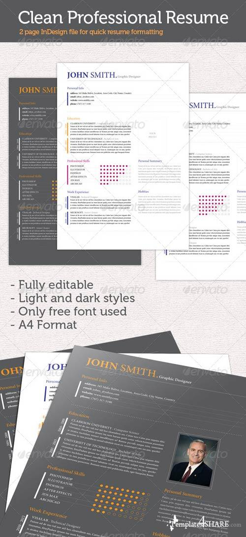 GraphicRiver Clean Professional Resume/CV