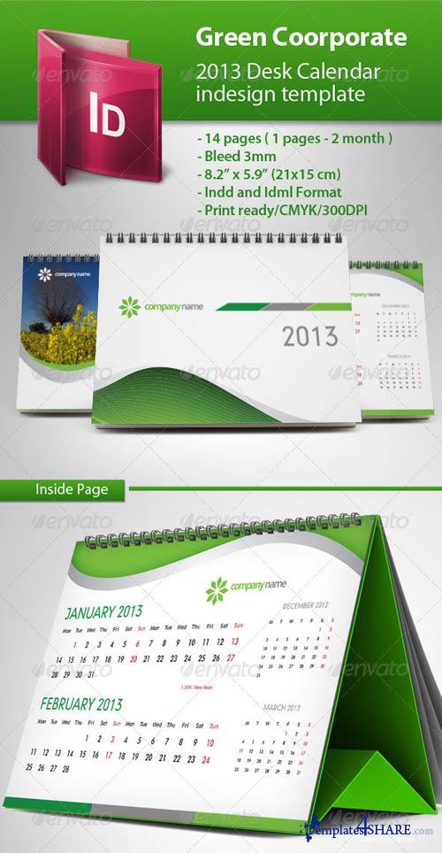 GraphicRiver Calendar 2013 Green Template