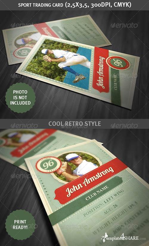 GraphicRiver Sport Trading Card - Retro Style