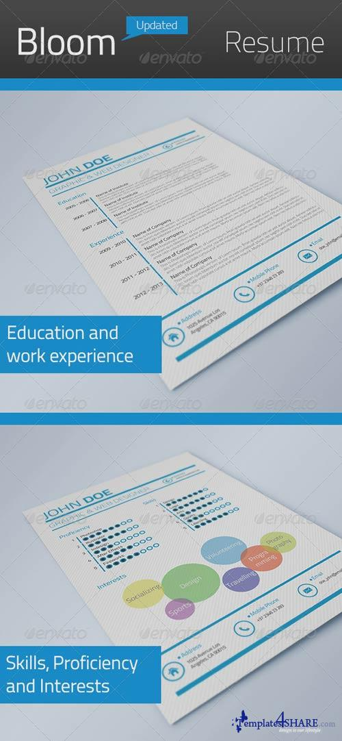 GraphicRiver Bloom Resume